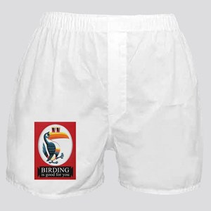 Birding Is Good For You Birder T-Shir Boxer Shorts