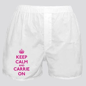 Keep Calm and Carrie On Boxer Shorts
