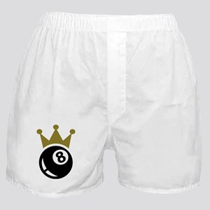 Eight ball billiards crown Boxer Shorts