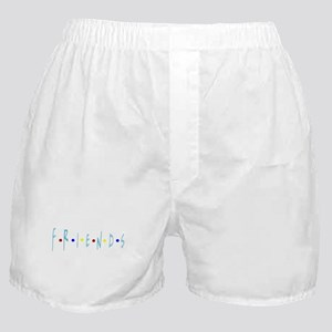 FRIENDS TV Logo Blue Boxer Shorts