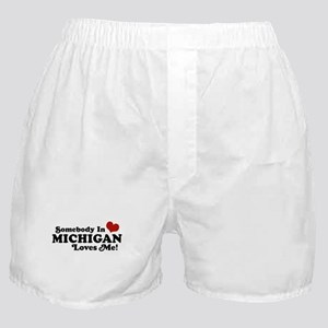 Somebody in Michigan Loves me Boxer Shorts