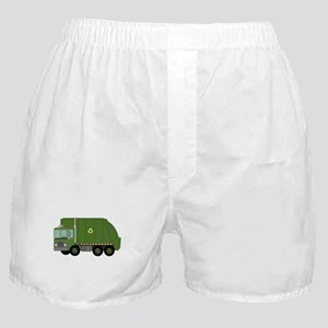 Green Garbage Truck Boxer Shorts
