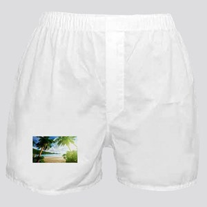 Tropical Beach Boxer Shorts