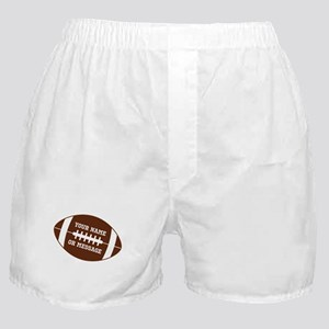 YOUR NAME Football Boxer Shorts