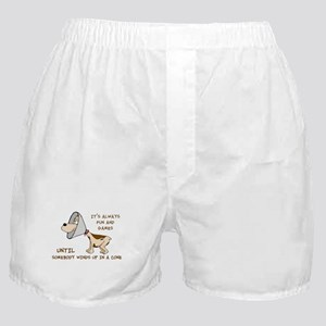 dog cone larry font 2 Boxer Shorts