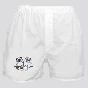 Ragdolls Pair Off-Leash Art™ Boxer Shorts