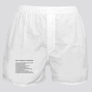Approaching A Veterinarian Boxer Shorts