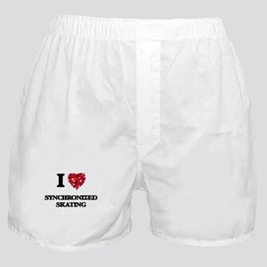 I Love Synchronized Skating Boxer Shorts