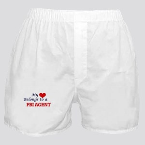 My heart belongs to a Fbi Agent Boxer Shorts