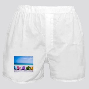Lounge Chairs On Beach Boxer Shorts