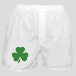 green shamrock irish Boxer Shorts