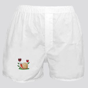 SNAIL AND FLOWERS Boxer Shorts