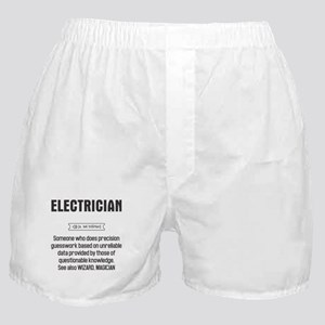 Funny Electrician Definition Boxer Shorts