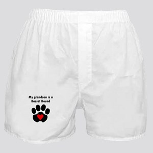 My Grandson Is A Basset Hound Boxer Shorts