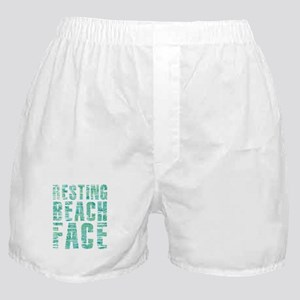 Resting Beach Face Print Boxer Shorts