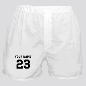 Customize sports jersey number Boxer Shorts