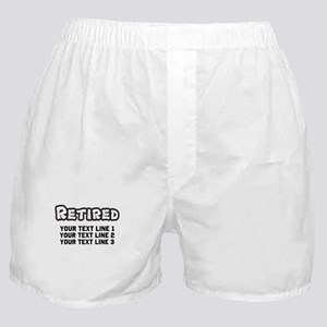 Retirement Text Personalized Boxer Shorts