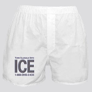 TURN ILLEGALS INTO ICE -  Boxer Shorts