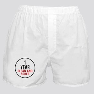 1 Year Clean & Sober Boxer Shorts
