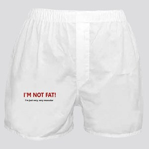 I'M NOT FAT JUST VERY VERY MU Boxer Shorts
