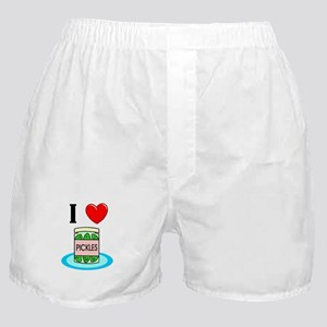 I Love Pickles Boxer Shorts