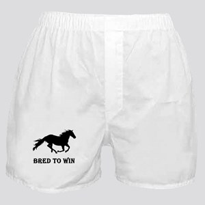 Bred To Win Horse Racing Boxer Shorts