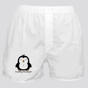 No Poking The Penguin Boxer Shorts