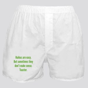 Haikus Are Easy Boxer Shorts