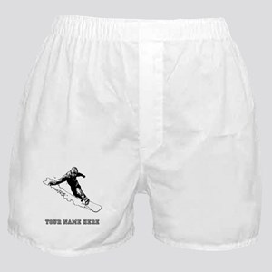 Custom Downhill Snowboarder Boxer Shorts