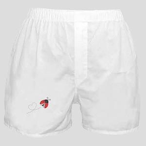 9ef596304c86 Cute Flying Ladybug, Heart Trail Boxer Shorts