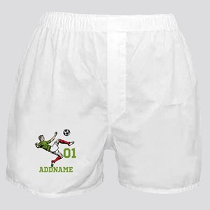 Customizable Soccer Boxer Shorts
