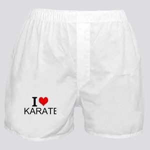 I Love Karate Boxer Shorts