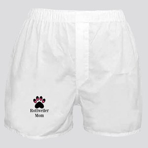Rottweiler Mom Paw Print Boxer Shorts
