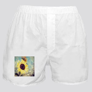 romantic summer watercolor sunflower Boxer Shorts