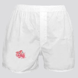 Tropical birds Flamingo in LOVE with Boxer Shorts