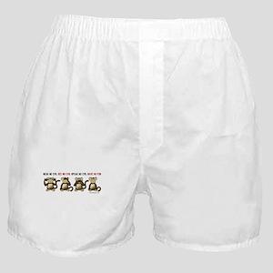 Monkey See Monkey Do Boxer Shorts - CafePress