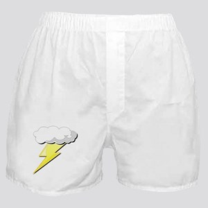 Lightning Bolt and Cloud Boxer Shorts