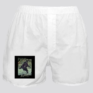 Have You Seen BIGFOOT? Boxer Shorts