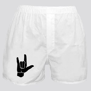 I LOVE YOU (in sign language) Boxer Shorts