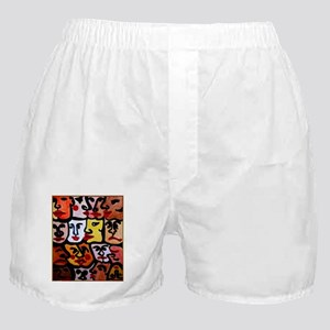 Diversity, all peoples, one world Boxer Shorts