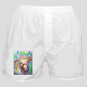 Cow! Colorful, art! Boxer Shorts
