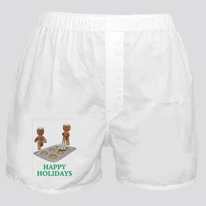 HAPPY HOLIDAYS - GINGERBREAD MEN Boxer Shorts