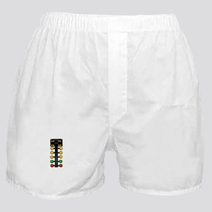 Drag Racing Christmas Tree Boxer Shorts