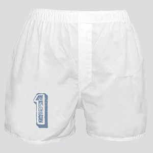 Blue Number 1 Birthday Boxer Shorts