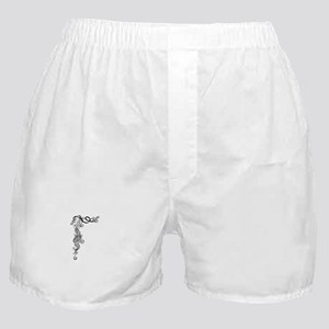 Black/White Mermaid Boxer Shorts