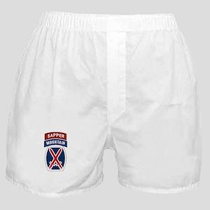 10th Mountain Sapper Boxer Shorts