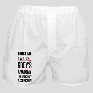 Greys Anatomy trust me black Boxer Shorts