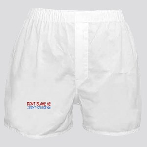 I Didn't Vote for Him Boxer Shorts