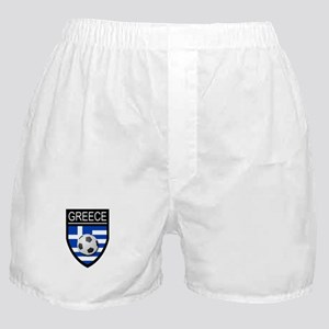 Greece Soccer Patch Boxer Shorts