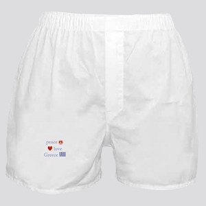 Peace, Love and Greece Boxer Shorts
